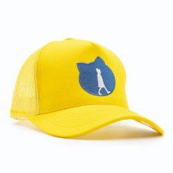 gelbe Kappe für warme Sommer Tage