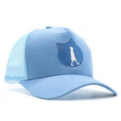 blaue Kappe mit Mesh-Stoff