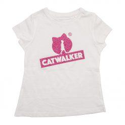 weißes Shirt mit pinkem Glitzer